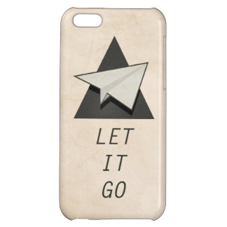 Let It Go Quotes Paper Planes Cover For iPhone 5C