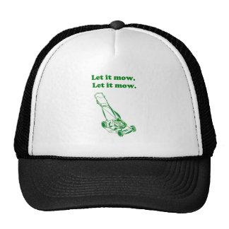 Let it Mow Movie Internet Meme Joke Trucker Hat