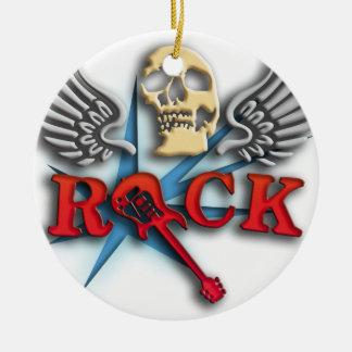 let it rock electric guitar star ceramic ornament
