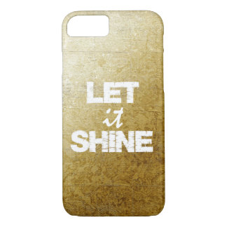 Let it Shine with Vintage Gold iPhone 7 Case