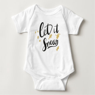 Let It Snow Baby Baby Bodysuit