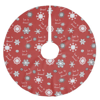 Let It Snow Background Color Choice Tree Skirt