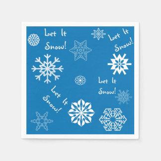 Let It Snow Blue Disposable Napkin