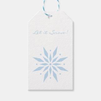 Let it Snow Blue Snowflake Christmas