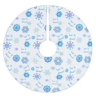 Let It Snow Brushed Polyester Tree Skirt