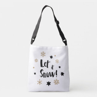 """Let it Snow!""  Calligraphy Christmas Crossbody Bag"