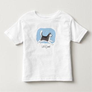 """Let it Snow!"" Cheerful Dog Design Shirt"