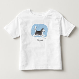"""""""Let it Snow!"""" Cheerful Dog Design Toddler T-Shirt"""