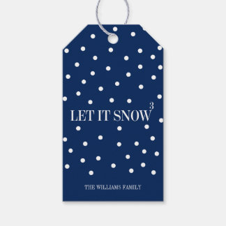 Let It Snow Christmas Holiday Gift Tag