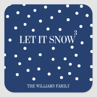 Let It Snow Christmas Holiday Sticker