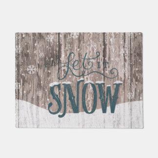 let It Snow Christmas Holiday Winter Door mat
