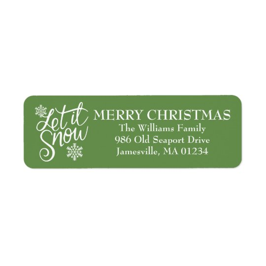 Let it Snow Christmas Return Address Labels
