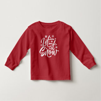 Let it Snow Christmas   Sleeve Shirt