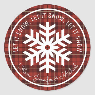 Let It Snow Classic Round Sticker