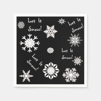 Let It Snow Color Choice Background Disposable Napkin
