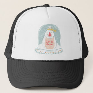 Let it snow cute Christmas Trucker Hat