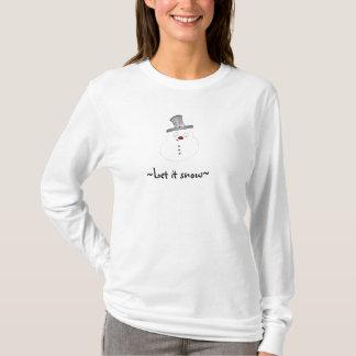 Let it Snow Cute Snowman T-Shirt