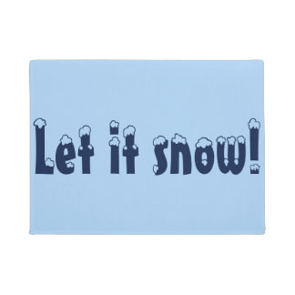 Let it Snow Door Mat