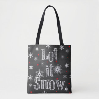 Let it Snow Faux Chalkboard Tote Bag