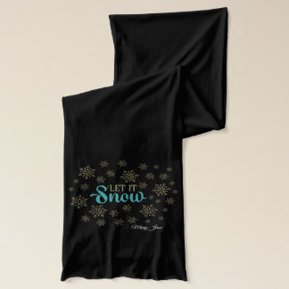 Let It Snow Flakes Scarf