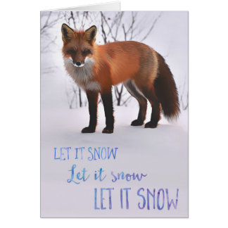 Let It Snow Fox Card