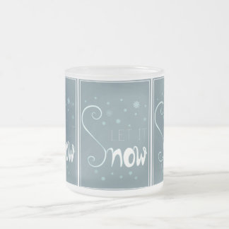 Let It Snow Frosted Winter Mug
