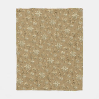 """Let It Snow"" Gold Effect Snowflake Design Blanket"