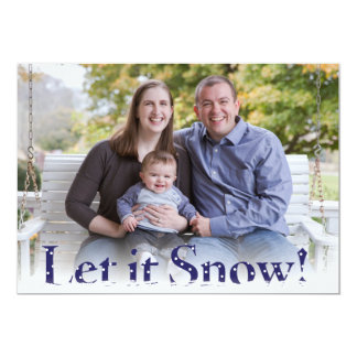Let it Snow Holiday Card 13 Cm X 18 Cm Invitation Card