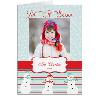 Let It Snow | Holiday Photo Greeting Card