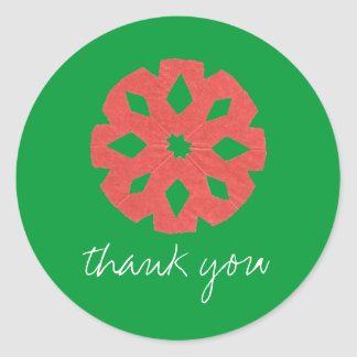 Let It Snow holiday thank-you sticker