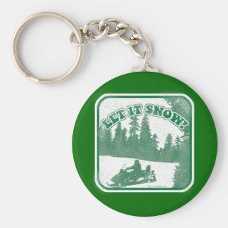 Let It Snow Key Ring