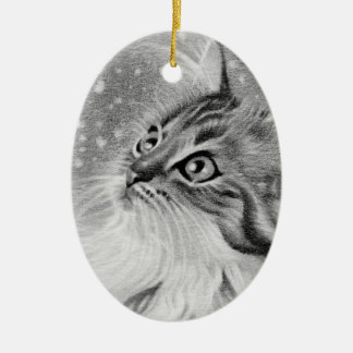 Let it snow kitty cat Ornament