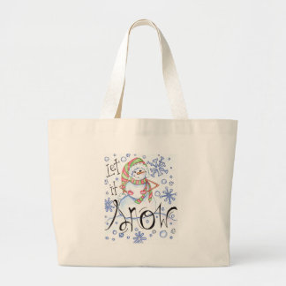 let-it-snow large tote bag