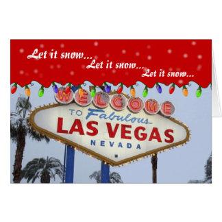 Let it snow.. Las Vegas Card