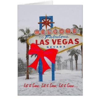 Let it Snow Las Vegas Christmas Card