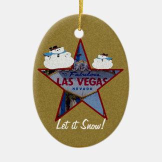 Let it Snow! Las Vegas Snowmen Ornament