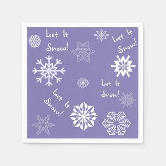 Let It Snow Lavender Disposable Napkins