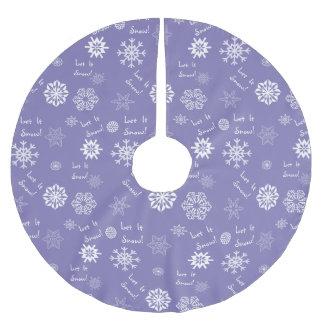 Let It Snow Lavender Tree Skirt
