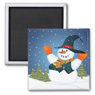 Let It Snow Man Fridge Magnet