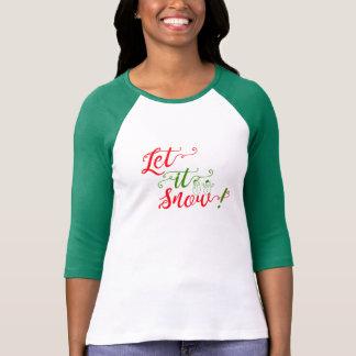 let it snow merry christmas shirt design woman top