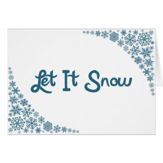 Let It Snow notecards blank inside Card