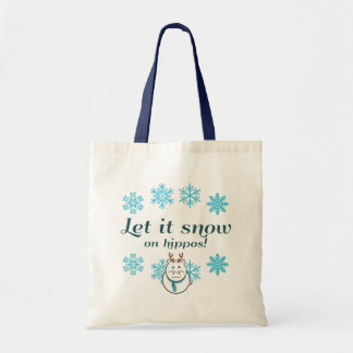 Let it snow on Hippos! Tote Bag