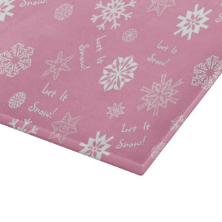 Let It Snow- Pink Cutting Boards