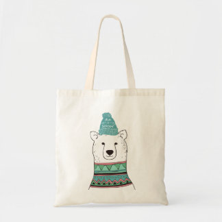 Let It Snow Polar Bear Tote Bag