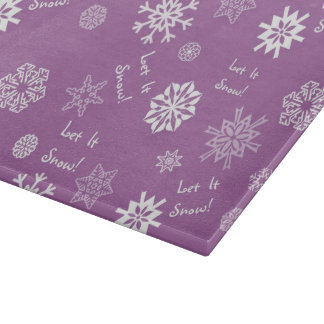 Let It Snow- Purple Cutting Boards