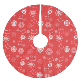 Let It Snow Red Tree Skirt