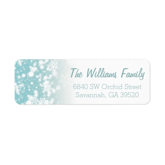 Let It Snow Return Address Label