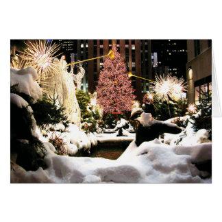 Let it Snow Rockefeller Center Christmas Tree Card