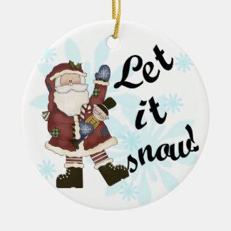 Let it Snow Santa  Keepsake Ornament