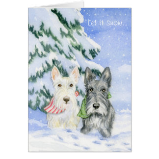 Let It Snow Scotties Card